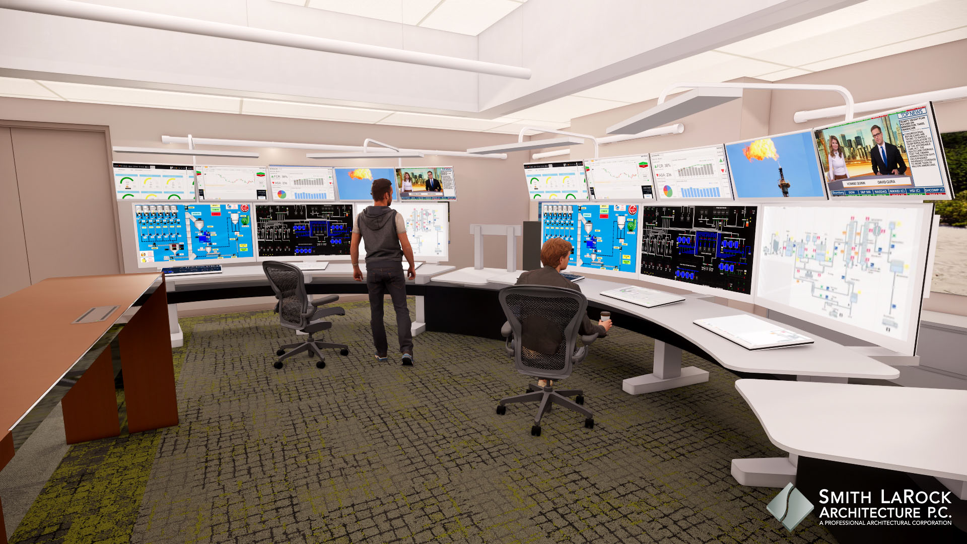 New control room and consoles
